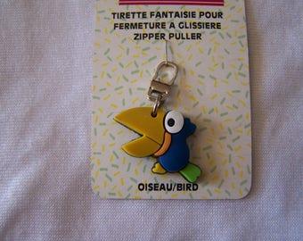 Pull for zipper (90618) bird motif