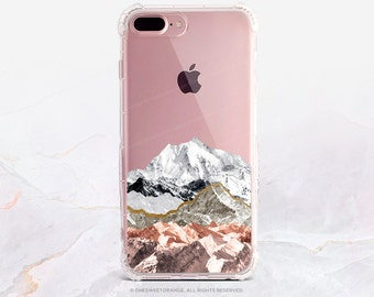 iPhone 8 Case iPhone X Case iPhone 7 Case Mountain Clear GRIP Rubber Case iPhone 7 Plus Clear Case iPhone SE Case Samsung S8 Plus Case U209