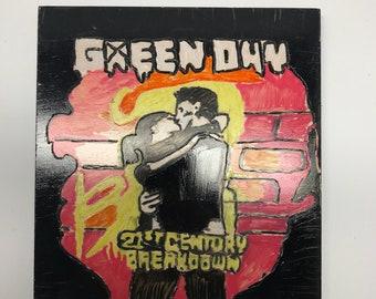 Green Day 21st Century Breakdown Inspired Carving