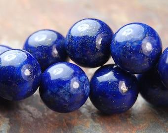8mm Lapis Lazuli (A grade) Round Beads -15 inch strand