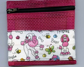 Pink Poodles Pet Screen Coin Purse