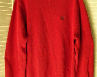 Thrifted Sweater/ Man's Large Sweater/ Burnt Orange/ Retro Chaps/ Shabbyfab Thrift/ Man's Large Pullover/ Gameday Sweater/ EcoThrift Funwear