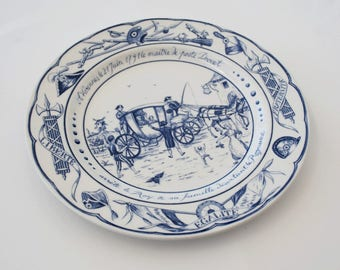 French Ceramic plate, Revolution Celebration, Collector plate, Bastille day, Gift idea.