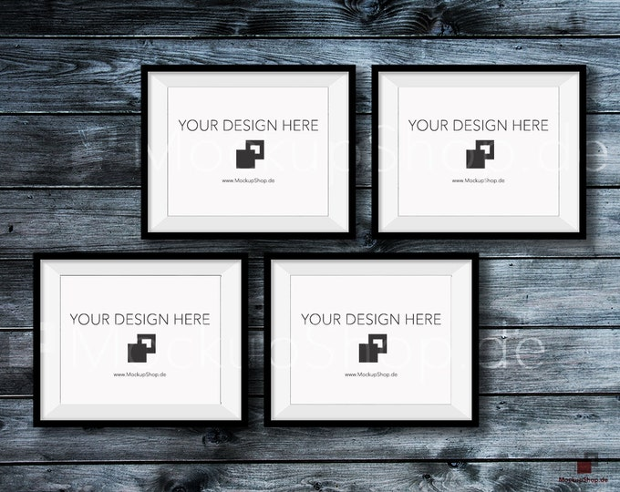 BLACK FRAME MOCKUP, 8x10, Set of 4, Empty Mockup Frame, Black Frame Mock-Up, Digital Frame Mockup for download, Frame Mockup, Download File