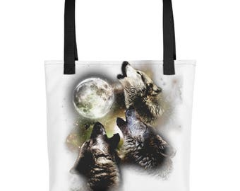 Wolves Howling At The Moon Gift Tote bag