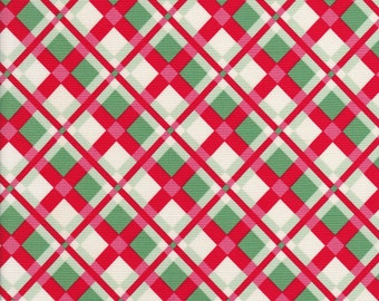 Swell Christmas - Red and Green Plaid - Urban Chiks - Moda Fabric - 31122 11
