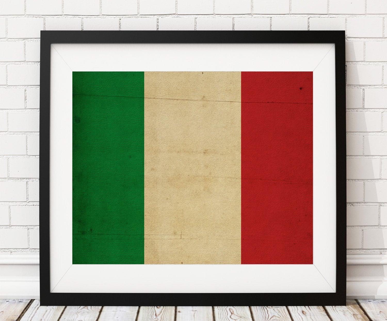 Italy Flag Art Italy Flag Print Italy Flag Poster Flag