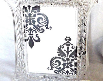 Glass Picture Frame, Home Decor, Mikasa Picture Frames, Vintage Picture Frame, Vintage Glass Picture Frames