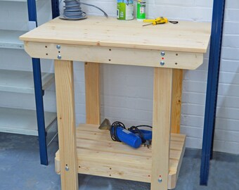 3FT Wooden Workbench  | Handmade | VERY STRONG & STURDY | Next Day Delivery | Top Quality!