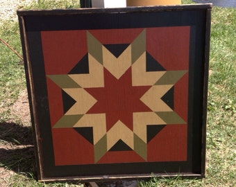 GIFT CERTIFICATE for a PriMiTiVe Hand-Painted Barn Quilt, Small Frame 2' x 2'