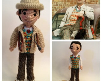 Seventh Doctor Who Amigurumi doll Crochet Pattern
