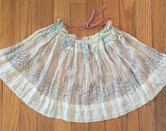 Vintage Hand Made Childrens Apron Skirt