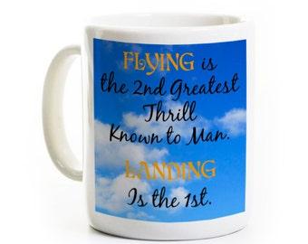 Flying Enthusiast Mug Gift - Aviation Coffee Mug - Pilot Gift - Personalized