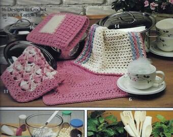 Dishcloths leaflet from Leisure Arts (crochet)