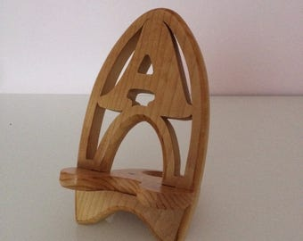 Phone stand with an initial