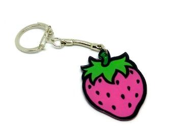 keychain - Pink Strawberry