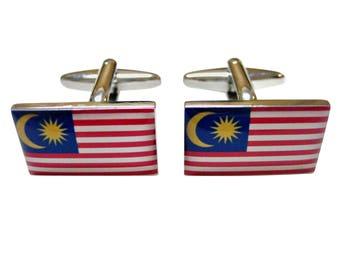 Malaysia Flag Cufflinks