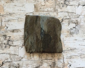 Natural Stone Coaster | Howling Wolf