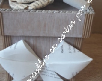 Box with book paper flower