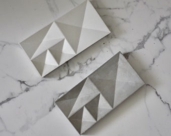 Modern contemporary concrete jewelry tray