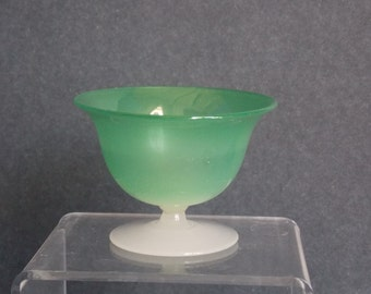 Steuben / Stevens and Williams Green Jade Sherbet Free DOMESTIC SHIPPING