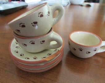 VINTAGE - Bear Paws Mini Tea Set