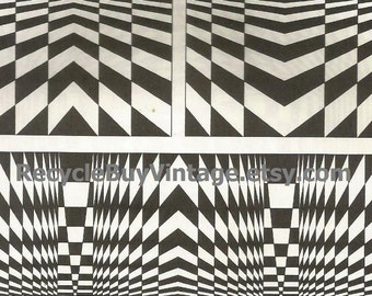 vintage. 70s. art print. print. art. artwork. wall art. wall decor. home decor. retro. poster. optical illusion. black and white.