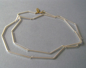 Gold geometric necklace. Transparent glass tubes necklace.