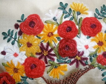 Kit roses in chenille
