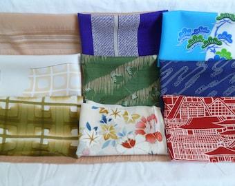 Assorted Antique / Vintage Japanese Kimono Fabric 100g - Small03