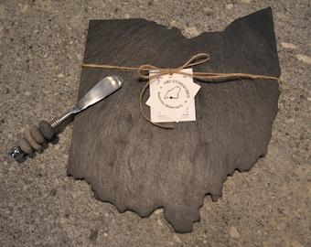 Ohio Slate Cheese Board - Slate State