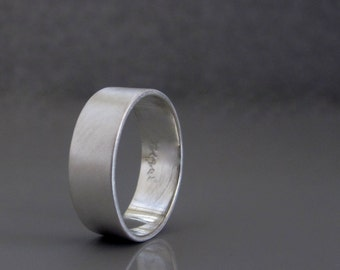 Wedding band for men, silver wedding band for him , Mens simple wide silver band, Mens wedding band made to order, Mens jewelry
