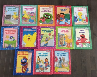 Sesame Street Book Set 13 books in total like new condition !
