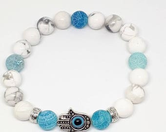 yoga bracelet zen genuine gemstone gift for her gift for him, Valentine's day