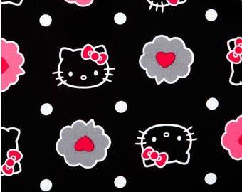 Thoughts of Love Bubble Hello Kitty allover Premium 100% Cotton fabric (SC61)
