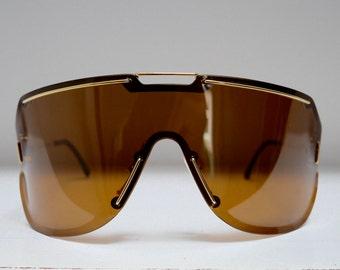 Very unique and rare vintage Carrera Boeing 5703 41 Gold sunglasses