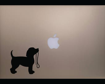 Puppy with Leash Decal for Laptop/Window/Wall/Mirror