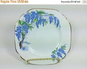 Sale Vintage Rosina England Bone China Plate Saucer Plate Ring Dish Jewelry Holder Trinket Dish Ring Holder