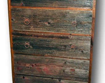 Reclaimed Wood Dresser 5 drawer Two Tone