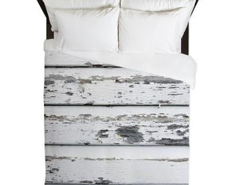 Farmhouse Decor, Shabby Chic Bedroom, White Duvet Cover, Country Bedding, Cottage Chic, Rustic Home Decor, King, Queen, Twin, Housewarming