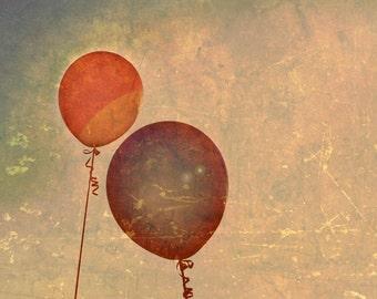 Up, Up - 8x10 photograph - fine art print - balloons - children's art - vintage photography