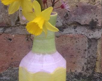 Unique bright spring vase