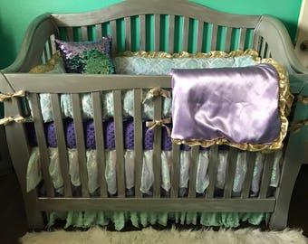 Custom Crib Bedding-Mermaid!