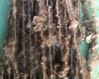 Handspun Mohair Art yarn lockspun hand dyed bulky chunky knitting supplies crochet  Waldorf doll hair  mohair