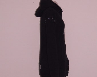 MADE TO ORDER - Studded Fitted Hoodies ∞ One of a Kind ∞ Upcycled ∞ Eco-Fashion ∞