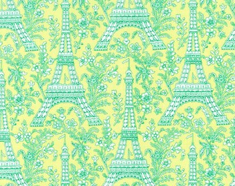Eiffel Tower (Sprout) - Michael Miller Fabrics - 1 Yard