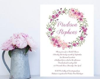 Floral Bridal Shower Invitation - Sample