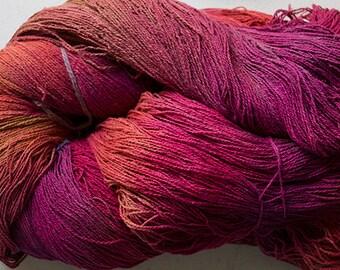 Stella, silk noil yarn, 1350 yds -  Red Oak.