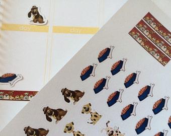 Planner Stickers Cute Puppy Dog Stickers Planner Sticker Fits Erin Condren Planner