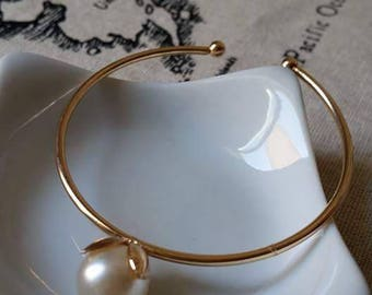 Bangle 6.5 cm Golden Pearl